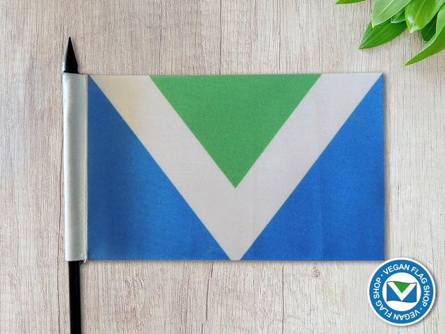 Vegan Flag HAND FLAG (150×100)