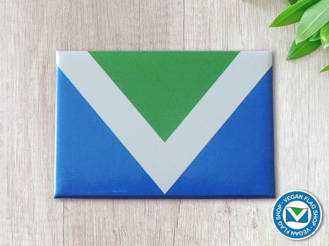 Vegan Flag MAGNET (78×53)