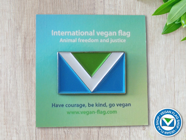 Vegan Flag PIN (30×18)