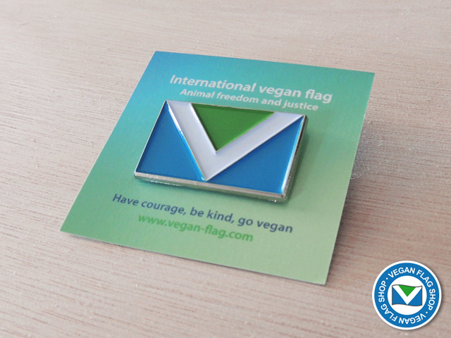 Vegan Flag PIN (30×18)