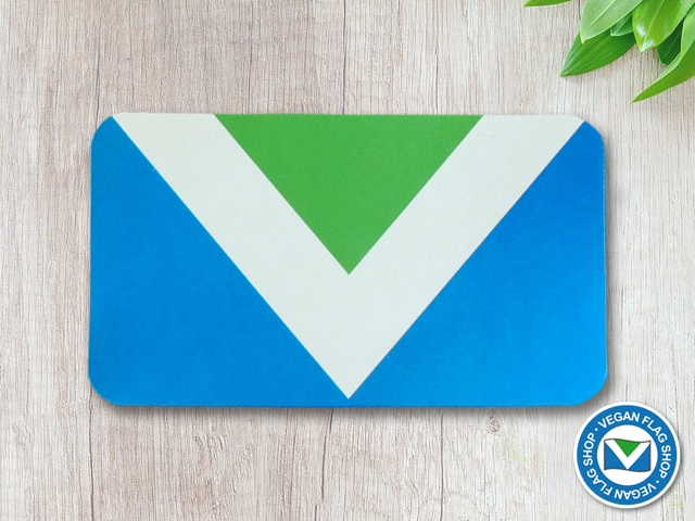 Vegan flag STICKER (87×49) Indoor use