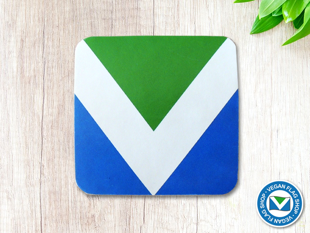 Vegan Flag STICKER (55×55) Indoor use
